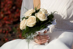 Bruid met bloemen Royalty-vrije Stock Fotografie