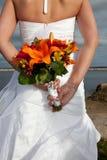 Bruid met Boeket Royalty-vrije Stock Foto's