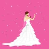 Bruid met Boeket Royalty-vrije Stock Foto