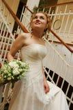 Bruid met boeket Stock Afbeeldingen