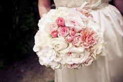 Bruid met Boeket Stock Foto