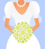 Bruid met een boeket Royalty-vrije Stock Foto's