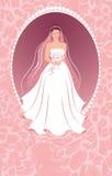 Bruid met een boeket. Stock Fotografie