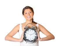 Bruid met een klok Royalty-vrije Stock Afbeelding