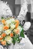 Bruid met haar boeket Royalty-vrije Stock Foto's