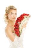 Bruid met luxeboeket royalty-vrije stock fotografie