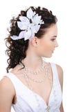 Bruid met modern kapsel Stock Foto's