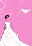 Bruid met rozen vector illustratie