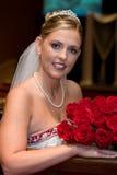 Bruid met Rozen Stock Afbeeldingen