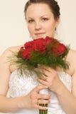 Bruid met Rozen Stock Afbeelding
