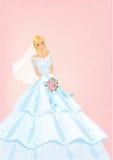 Bruid met rozenboeket Royalty-vrije Stock Foto