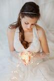 Bruid met slinger Royalty-vrije Stock Foto