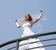 Bruid op de wind Stock Foto's