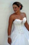Bruid op haar huwelijksdag Royalty-vrije Stock Afbeeldingen