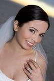 Bruid op het strand Stock Foto's