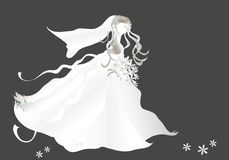 Bruid op zwarte Royalty-vrije Stock Fotografie