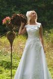 Bruid openlucht Royalty-vrije Stock Afbeeldingen