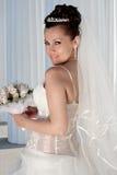 Bruid in openlucht stock afbeelding