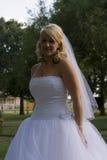 Bruid in park stock foto