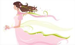 Bruid in roze royalty-vrije illustratie