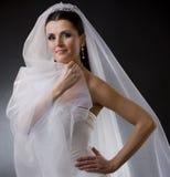 Bruid in sluier Stock Foto's
