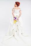 Bruid in studio Stock Afbeeldingen