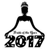 Bruid van het jaar 2017 Royalty-vrije Stock Foto's