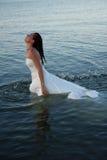 Bruid in water Stock Foto