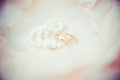 Bruid in witte kleding Royalty-vrije Stock Foto's