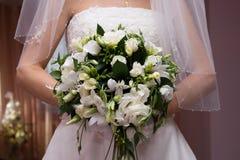 Bruid in witte kleding Royalty-vrije Stock Foto