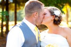 Bruidbruidegom Portraits Wedding Day royalty-vrije stock fotografie
