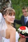 Bruidegom en Bruid. Royalty-vrije Stock Foto's