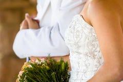 Bruidegom en bruid Stock Afbeelding