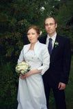 Bruidegom en bruid Royalty-vrije Stock Fotografie