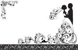 Bruidegom en bruid stock illustratie