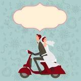 Bruidegom en bruidkarakterhuwelijk Stock Fotografie