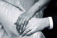 Bruidegom en dride stock foto's
