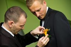 Bruidegom en getuige Royalty-vrije Stock Afbeelding