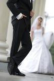 Bruidegom in luxueuze smoking Royalty-vrije Stock Afbeelding