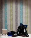 Bruidegom Shoes royalty-vrije stock foto's