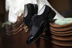Bruidegom Shoes stock foto's