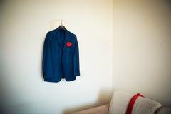 Bruidegomjasje op hanger Royalty-vrije Stock Foto
