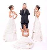 Bruiden stock foto