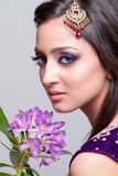 Bruids Aziatische make-up stock foto