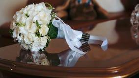 Bruids boeket stock footage