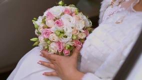 Bruids boeket stock video