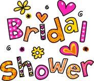 Bruids douche Royalty-vrije Stock Afbeelding