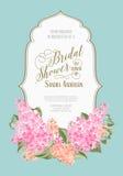 Bruids douchekaart Royalty-vrije Stock Afbeelding