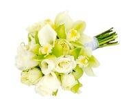 Bruids het boeketbloemstuk van het huwelijk Stock Afbeelding