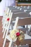 Bruids Huwelijk die onderaan de doorgang lopen Royalty-vrije Stock Foto
